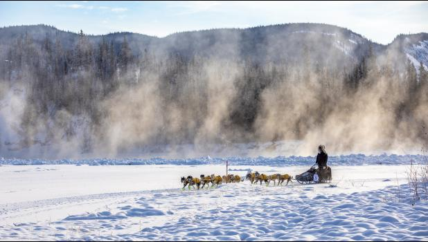 Brent Sass near Carmacks in the 2019 Yukon Quest.