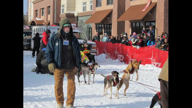 Race marshal Michael McGowan at the 2016 Open North American Championships in Fairbanks.